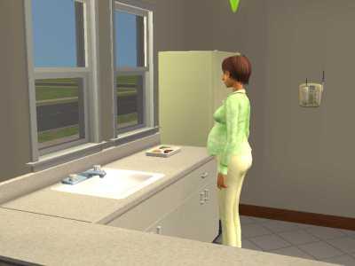 Tučná tehotná Simka